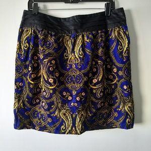 Anthropologie cidra printed mini skirt
